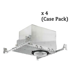 4-Inch New Construction Recessed Can - IC & Airtight - Case Pack of 4