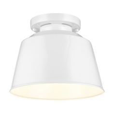 Feiss Lighting Freemont Hi Gloss White Close To Ceiling Light