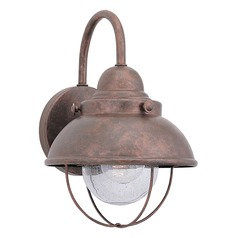 Marine / Nautical Seeded Water LED Outdoor Wall Light Copper Sebring by Sea Gull Lighting