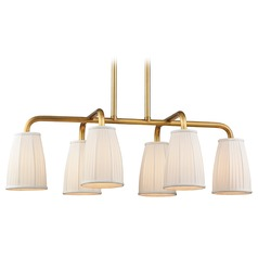 Transitional Island Light Brass Malden by Hudson Valley Lighting