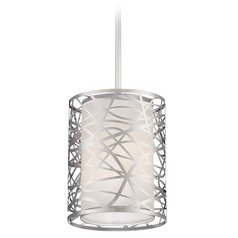 Quoizel Lighting Platinum Collection Abode Polished Chrome Mini-Pendant Light with Cylindrical Shade