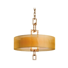 Drum Pendant Light with Beige / Cream Shades