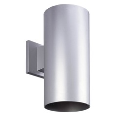 Progress Lighting Cylinder Metallic Gray LED Outdoor Wall Light