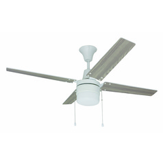 Craftmade Lighting Wakefield White Ceiling Fan with Light