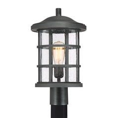 Quoizel Lighting Crusade Earth Black Post Light