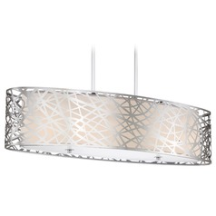 Quoizel Lighting Platinum Collection Abode Polished Chrome Island Light with Oval Shade