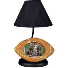 Football Picture Frame Accent Table Lamp with Black Empire Shade.