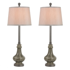 Dimond Lighting LED Table Lamp Set with Grey Shades in Georgia Grey Glaze Finish D2448/S2-LED