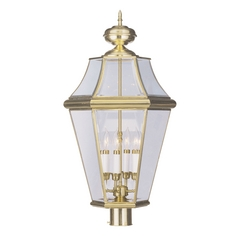 Livex Lighting Georgetown Polished Brass Post Light