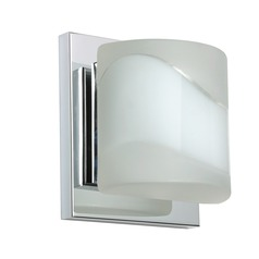 Besa Lighting Paolo Frosted Glass Chrome Sconce