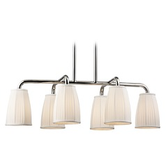 Hudson Valley Lighting Malden Polished Nickel Island Light with Bell Shade