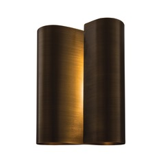 Norwell Lighting Curl Brushed Pewter Sconce