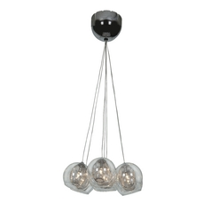 Mid-Century Modern Multi-Light Pendant Chrome Aeria by Access Lighting