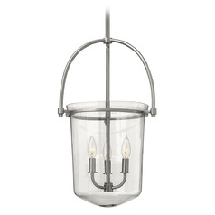 Hinkley Lighting Clancy Brushed Nickel Pendant Light with Bowl / Dome Shade