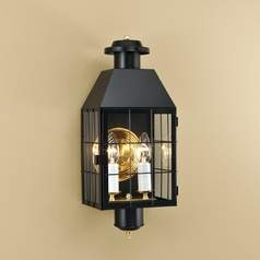 Norwell Lighting American Heritage Black Outdoor Wall Light