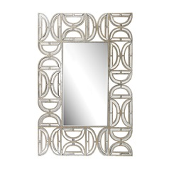 Rectangular Wall Mirror With D Pattern Frame