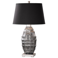 Uttermost Pechora Gunmetal Grey Lamp
