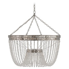 Currey and Company Highbrow Silver Leaf / Distressed Silver Leaf Pendant Light