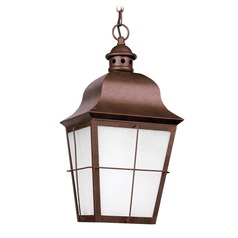 Sea Gull Lighting Chatham Weathered Copper Outdoor Hanging Light