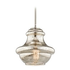 Kichler Lighting Everly Brushed Nickel Mini-Pendant Light with Urn Shade