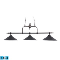 Elk Lighting Designer Classics Tiffany Bronze LED Billiard Light with Conical Shade