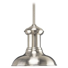 Barn Light Pendant Brushed Nickel 8.13-Inch Wide by Progress Lighting