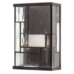 Sconce Wall Light with Copper Glass in Buckeye Bronze Finish