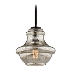 Kichler Lighting Everly Olde Bronze Mini-Pendant Light with Urn Shade