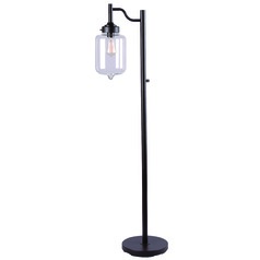Kenroy Home Casey Oil Rubbed Bronze Floor Lamp with Cylindrical Shade