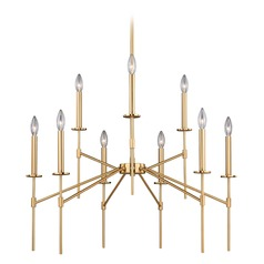 Kedzie Natural Brass Chandelier by Vaxcel Lighting