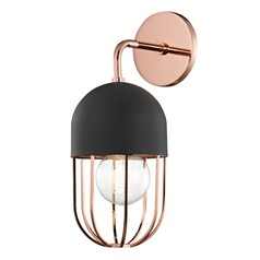 Mid-Century Modern Sconce Copper Mitzi Haley by Hudson Valley