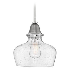 Industrial Seeded Glass Pendant Light by Hinkley Lighting
