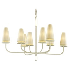 Troy Lighting Marcel Gesso White Chandelier