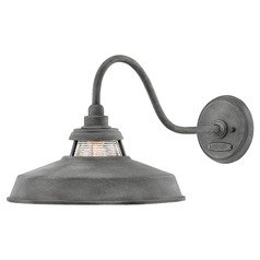 Hinkley Lighting Troyer Aged Zinc Barn Light