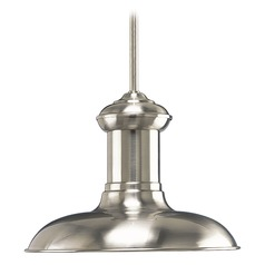 Barn Light Pendant Brushed Nickel 12-Inch Wide by Progress Lighting