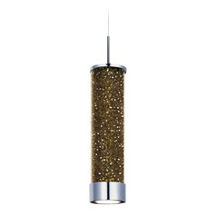 Polished Chrome LED Mini-Pendant with Cylindrical Shade
