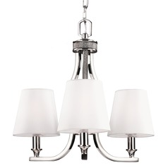 Feiss Lighting Pave Polished Nickel Mini-Chandelier