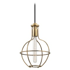 Colebrook 1 Light Mini-Pendant Light - Aged Brass