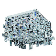 Vermeer 4 Light Square Flush Mount with Chrome
