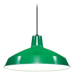 Green Barn Light Pendant by Nuvo