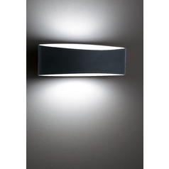 Holtkoetter Modern Sconce Wall Light with Black Glass in Black Finish