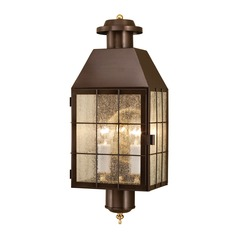 Seeded Glass Outdoor Wall Light Bronze Norwell Lighting