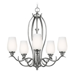 Feiss Lighting Standish Heritage Silver Chandelier