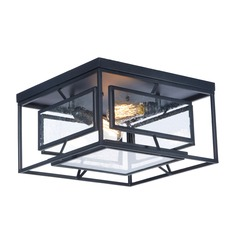 Seeded Glass Flushmount Light Black Maxim Lighting