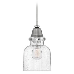 Farmhouse Seeded Glass Pendant Light Nickel by Hinkley Lighting