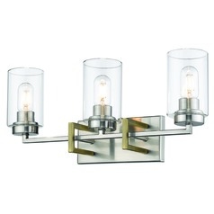 Golden Lighting Tribeca Pewter Bathroom Light