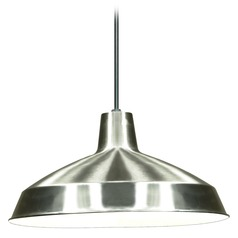 Barn Light Pendant Brushed Nickel by Nuvo