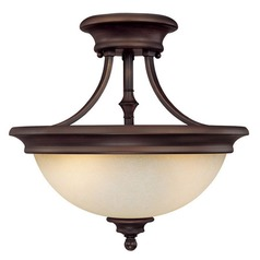 Capital Lighting Belmont Burnished Bronze Semi-Flushmount Light