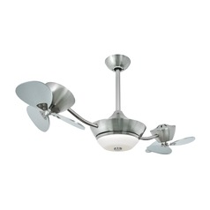 Eclipse II Satin Nickel Ceiling Fan with Light by Vaxcel Lighting