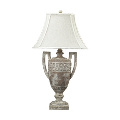 Table Lamp with White Shade in Allesandria Finish
